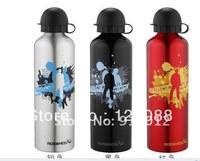 Free shipping Cycling Bike Bicycle Sports Aluminum alloy water bottle 750 ml bike water Silver/black/red