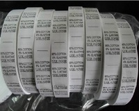 size 1.7*4.5 Ingredient  care labels in stock /non-woven  fabric garment label in stock  free shipping