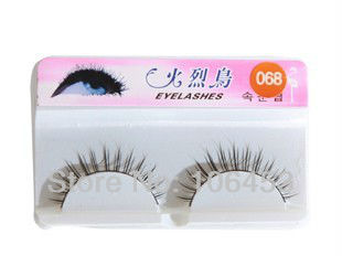 Discount Wholesale Individual Eyelashes False Natural Eye Lashes Extensions 1Big Box=10Pairs (068#) Cosmetic 500Pairs/Lot(China (Mainland))