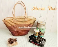 Sequins straw bag women rattan bags beach handbags