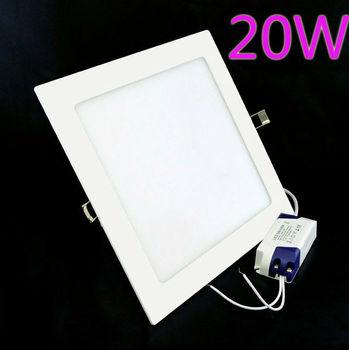 2pcs/Lot 20W Led Ceiling Light Warm/White Lighting  AC85V-265V Square Led light + Free Shipping