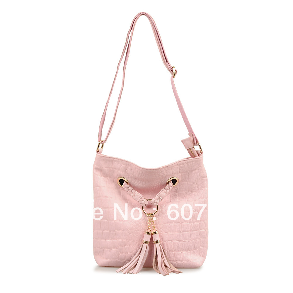2013 small cowhide bag fashion knitted tassel bag one shoulder cross-body women's handbag(China (Mainland))