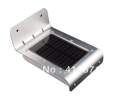 Solar Powered Outdoor Lamp 16 LED Wall Light PIR Induction Motion Sensor Detector /Garden Yard Waterproof IP65 Street Lighting(China (Mainland))
