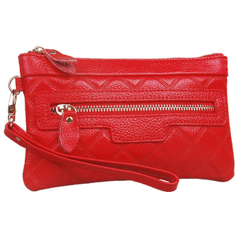 Free shipping 2013 genuine leather clutch female coin purse cowhide women's dinner party bag clutch handbag