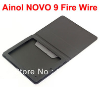 Flip and Folder Special Stand Leather Case Cover for Ainol NOVO 9 Fire Wire Tablet - Black Color