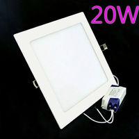 2pcs/Lot 20W Led Panel Light Warm White /White Light AC85-265V Led Square 1800lumens, Free Shipping