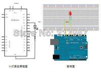 10pcs 5MM Red LED + 10pcs 470ohm resistor + 1pcs MB102 Breadboard + 65pcs jumper wires cable for arduino board kit start kits