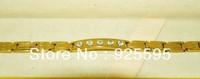 1PCS Free shipping&Pure tungsten steel bracelet wholesale tungsten bracelet&Energe Bracelet Color Between the Golden