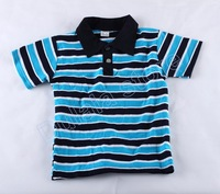 Free shipping 1pcs New Style Children polo shirt Children's Stripe Short Sleeve T-shirt Baby Boys Lapel t-shirts hot baby