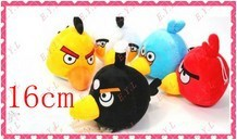 16cm Angry Hot Doll Gift Birds Toys Baby Girls 5PCS/SET Wholesale Animal Toy Plush Free Shipping(China (Mainland))