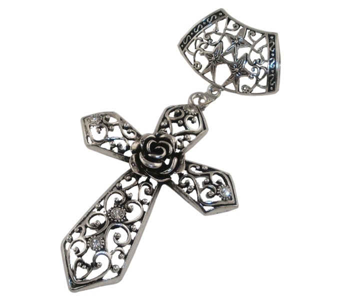 wholesale pendants ,Silver Cross With Rhinestone,Nickel-free,Environmentally Friendly Materials,Free Shipping Wholesale(China (Mainland))
