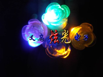 Rose flash ring luminous flower ring led finger light soft ring