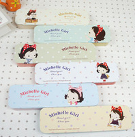 Wholesale.2013.Hot selling..  sweet michelle girl Tin  pens stationery pencil bags cases wallets pouch . Tin storgae box. &  F.r