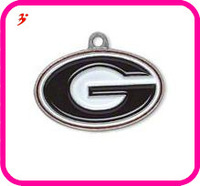 Free shipping 10pcs a lot sport enamel Georgia Bulldogs basketball team logo charms