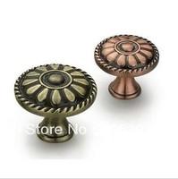 Antique brass cabinet knobs ,kitchen knob drawer pull cabinet handles Diameter 35mm Solid Red Brass or Green Bronze