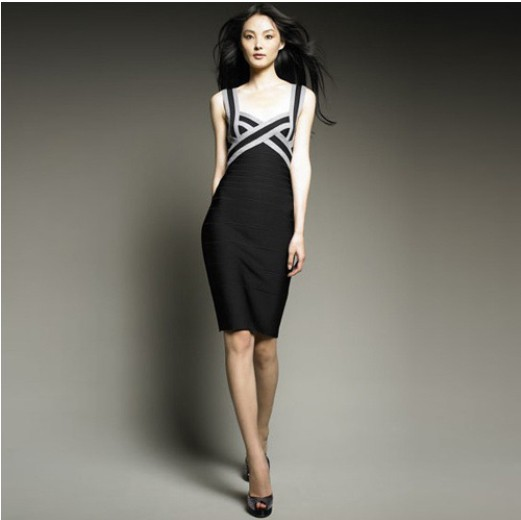 New Lady's Bandage Dress Evening Dress Party Dress Club Cocktail Prom. & Formal Bodycon Slim Strappy(China (Mainland))