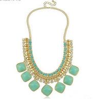 Newest high quality imitation stones choker necklace Free Shipping HeHuanXL266