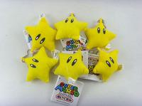 Super mario bros plush toys 2 inch cute little star plush keychain dolls 10pcs
