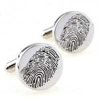 Fingerprint Cufflink 15 Pairs Free Shipping