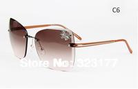 2013 Hot Metal Women Sunglasses Butterfly Sun Glasses, Designer Shades UV 400, Branded Female Eyewear Summer Oculos Gafas de sol