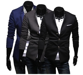 HS3 Hot Sale 2013 New Arrival Fashion Men's Blazer Casual Slim Suit Coat Jacket Outerwear  QY8932