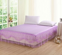 FREE SHIPPING! Princess lace fitted bed skirt simmons set bedspread protection pad mosquito net