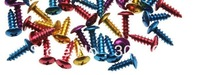 motorcycle accessories aluminum  self tapping screwx50pcs  colorful  fastener