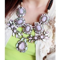 Min.order is $10 (mix order) The fashion the effeminate course cherry pink  layering exaggerated necklace 13-046