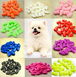 Glue dog finger set 20 pet beauty nail art the dog finger sets