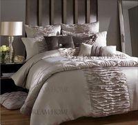 Flesh Pink Bedding Set Luxury King Size Comforter Set Hot Sale Wedding Bedding Set Quilt Cover Set/Sheet