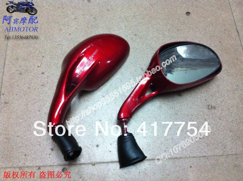 Hot ! Motorcycle rearview mirrors Chrome plated for Harley and other custom motorcycles, side mirror, rearview mirror(China (Mainland))