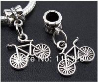 Free Shipping 130pcs Tibetan Silver Bike Charms Bead Fit Bracelet  18x14mm For Jewelry Making