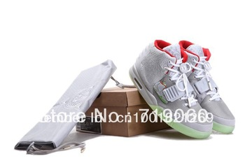 Free Shipping Hot Sale scales cut Trainers Air Yeezy 2 Rerto Kanye West Men's Basketball Shoes,Fashion Trend shoes Grey Red
