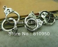 11*28mm 100pcs Antique Silver handcuffs Charm Pendant  DIY Handmade Jewelry Base settings