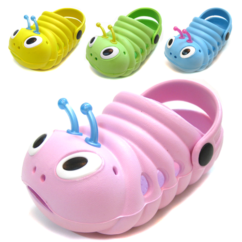 Summer children shoes sandals slippers 0-1 - 2 - 3 male infant boy cartoon caterpillar(China (Mainland))