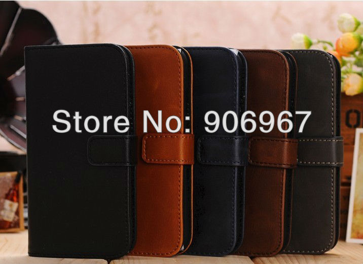 Vintage Retro Business Style PU Wallet Leather Flip Case for Samsung Galaxy S4 i9500 with Buckle(China (Mainland))