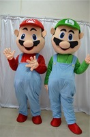 uper Mario and Luigi Mascot Costume Fancy Dress EMS  free shipping