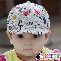 Princess bonnet doodle baby monochoria hat baseball bonnet a3015