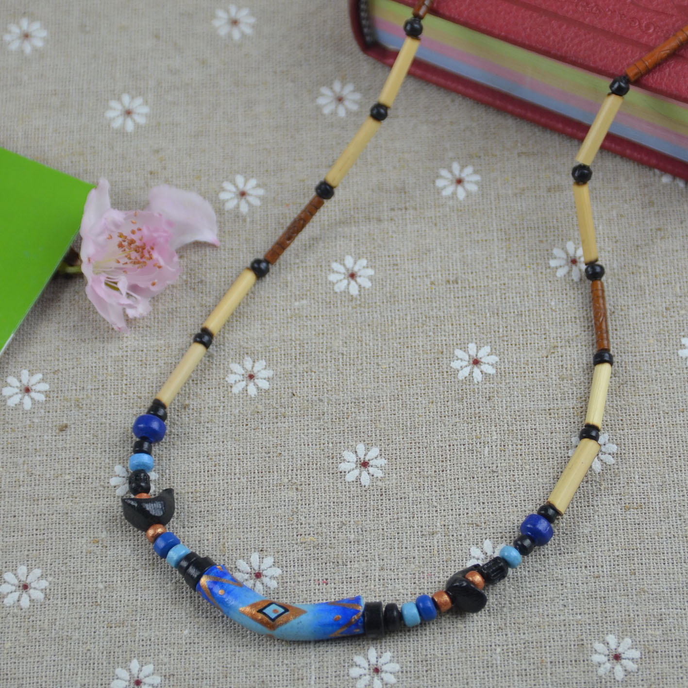 Bohemia necklace ceramic bead necklace female necklace accessories female(China (Mainland))