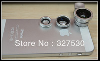 fisheye wide-angle macro lens for apple ipad iphone4/4S/5 for Samsung GALAXY SIII note2  for anyone phone 20pcs+freeing HK post