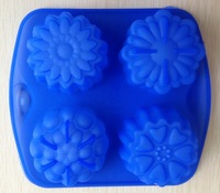 Free Shipping Lotus shape Muffin Sweet Candy Jelly fondant Cake chocolate  Mold Silicone tool Baking Pan DIY