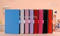 Fashion patent classic Argyle  pattern Leather Case with holder for  iPad 2 IPAD 3 IPAD 4 NEW IPAD