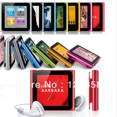 "Wholesale New 8GB 6th Gen Clip MP3 MP4 MP5 Player 1.5"" touch Screen Digital mp4 music player (Fm+Ebook+Video)(China (Mainland))"