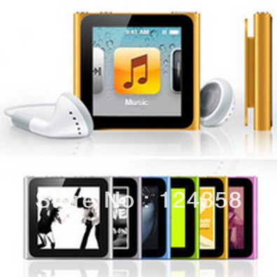 "Free shipping New 8GB 6th Gen Clip MP3 MP4 MP5 Player 1.5"" touch Screen Digital mp4 music player (Fm+Ebook+Video) 5pcs/lot(China (Mainland))"