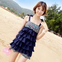 2013 Split Skirt Style Swimwear Female Tankinis Set Small Push Up Plus Size Swimsuit for Women Free Shipping