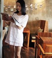 Gentlewomen fashion brief cutout design basic short one-piece dress