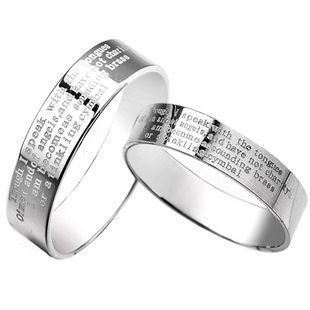 Jpf bible lovers ring pure silver lovers jewelry 925 pure silver lovers ring christmas gift(China (Mainland))