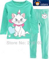 New Fashion children's pajamas baby pajamas baby sleepwear suits t-shirts + pants Kids long sleeve underwears sets 6set/lot