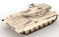 Merkava Mark II tank 3D paper model DIY manual