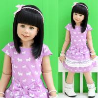 2013 baby summer girls summer clothing 100% cotton princess one-piece dress short-sleeve layered dress